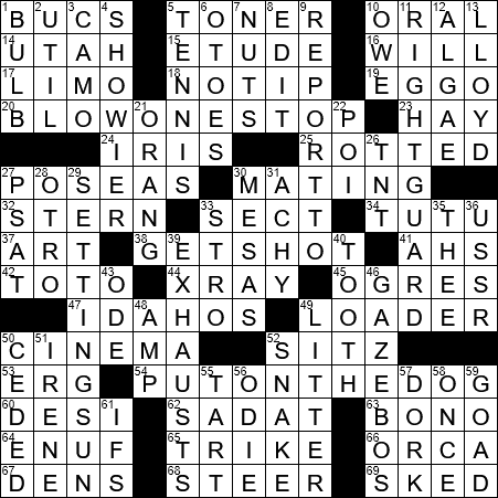La Times Crossword 9 Jul 19 Tuesday Laxcrossword Com
