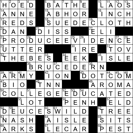 La Times Crossword 10 Jul 19 Wednesday Laxcrossword Com