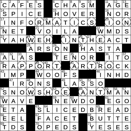 La Times Crossword 19 Aug 19 Monday Laxcrossword Com