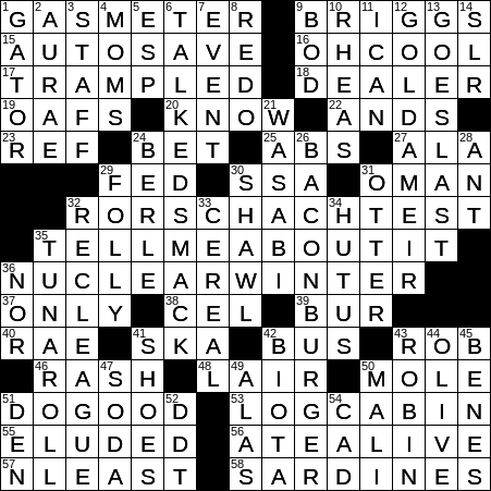 LA Times Crossword 10 Aug 19, Saturday - LAXCrossword com