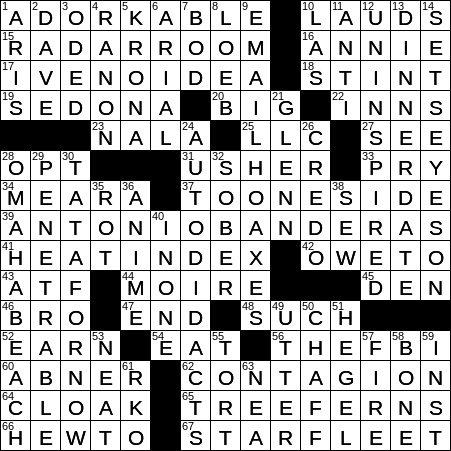 image relating to Printable Crossword Puzzles La Times titled LA Moments Crossword 17 Aug 19, Saay -