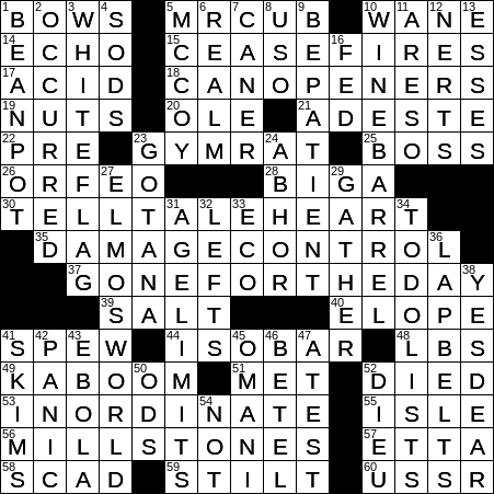image regarding La Times Crossword Printable identified as LA Days Crossword 24 Aug 19, Saay -