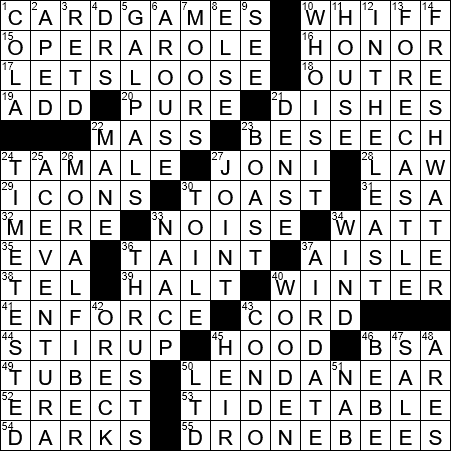 La Times Crossword 5 Oct 19 Saturday Laxcrossword Com
