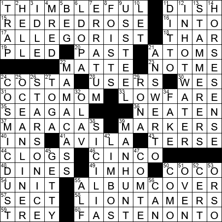 Little More Than A Drop Crossword Clue Archives Laxcrossword Com