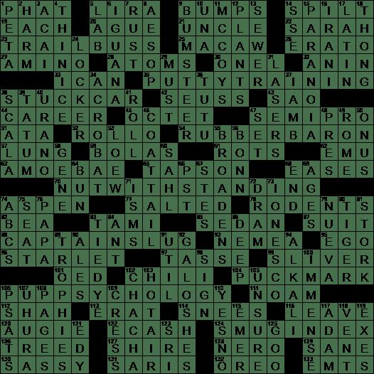La Times Crossword 8 Sep 19 Sunday Laxcrossword Com