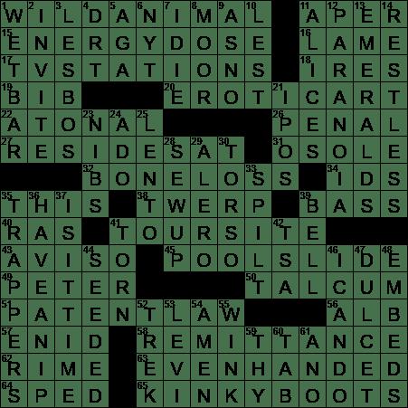 La Times Crossword 19 Oct 19 Saturday Laxcrossword Com