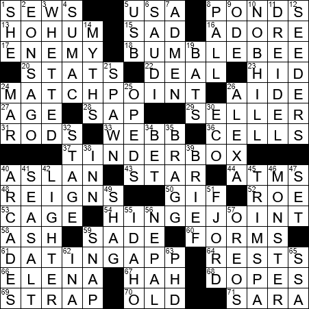 La Times Crossword 5 Nov 19 Tuesday Laxcrossword Com