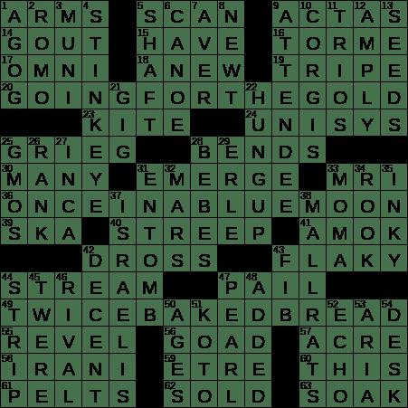 Zwieback E G Crossword Clue Archives Laxcrossword Com
