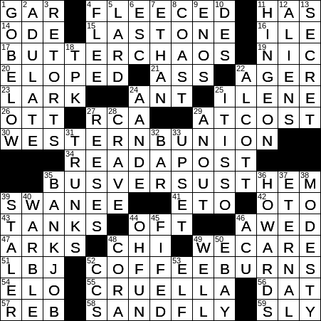La Times Crossword 8 Nov 19 Friday Laxcrossword Com