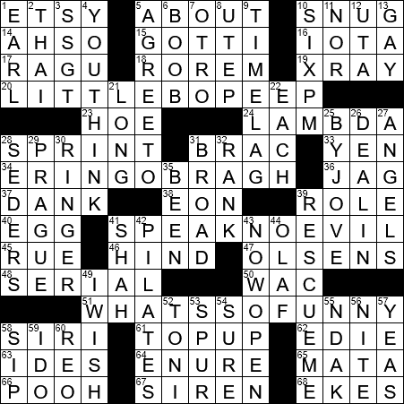 Greek Letter Before Kappa.La Times Crossword 11 Nov 19 Monday Laxcrossword Com