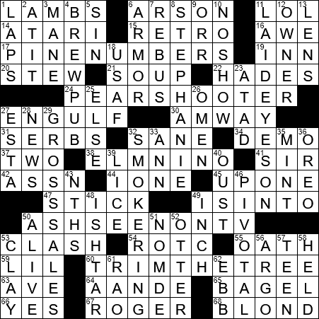 O Tannenbaum And Others Crossword Clue Archives Laxcrossword Com