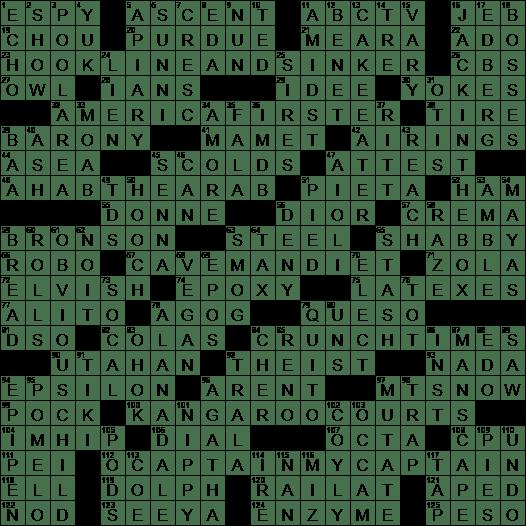 La Times Crossword 22 Dec 19 Sunday Laxcrossword Com