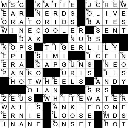 La Times Crossword 10 Dec 19 Tuesday Laxcrossword Com