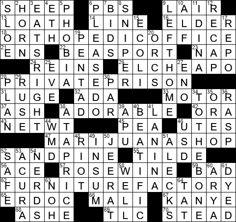 Blissful Crossword Clue Archives Laxcrossword Com