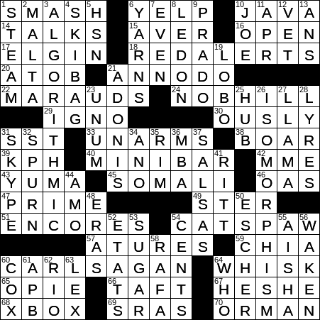 La Times Crossword 31 Jan 20 Friday Laxcrossword Com