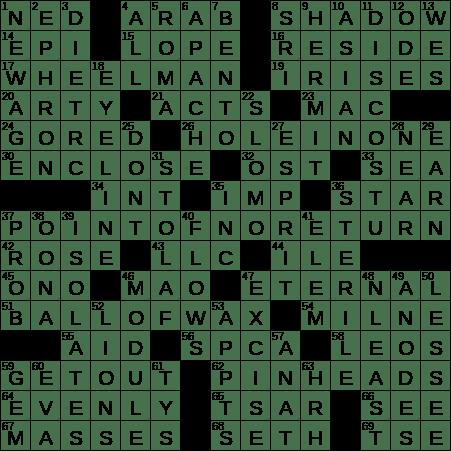 La Times Crossword 3 Feb 20 Monday Laxcrossword Com