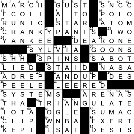 La Times Crossword 11 Jan 20 Saturday Laxcrossword Com