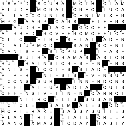 La Times Crossword 26 Jan 20 Sunday Laxcrossword Com