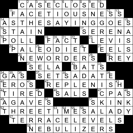 Observations Crossword Clue Archives Laxcrossword Com