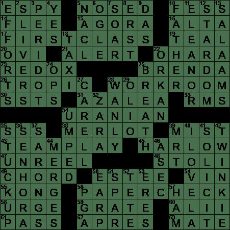 La Times Crossword 11 Feb 20 Tuesday Laxcrossword Com