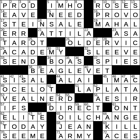 Modern Methinks Crossword Clue Archives Laxcrossword Com