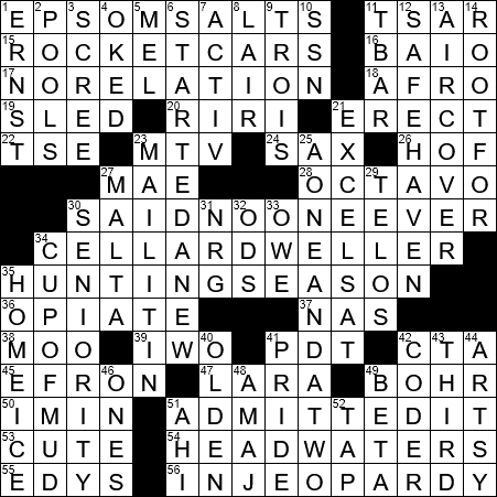 La Times Crossword 21 Mar 20 Saturday Laxcrossword Com