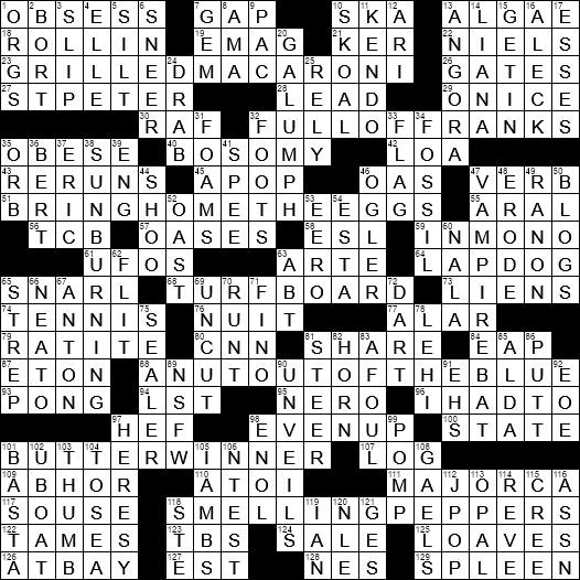 La Times Crossword 5 Apr 20 Sunday Laxcrossword Com