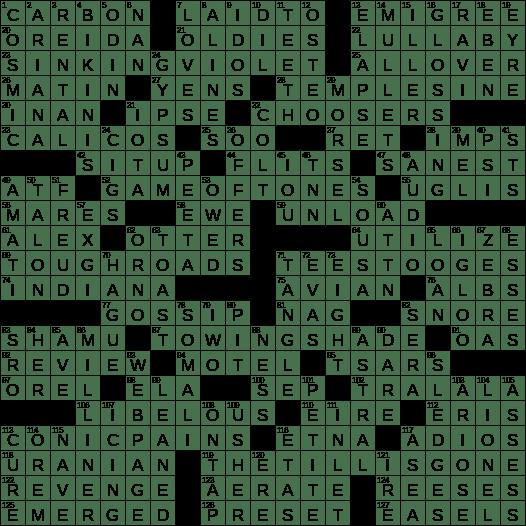 La Times Crossword 8 Mar 20 Sunday Laxcrossword Com