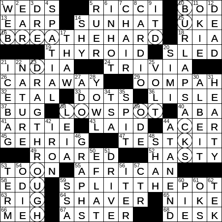 Even If Crossword Clue Archives Laxcrossword Com