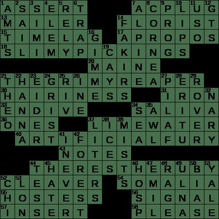 La Times Crossword 1 May 20 Friday Laxcrossword Com