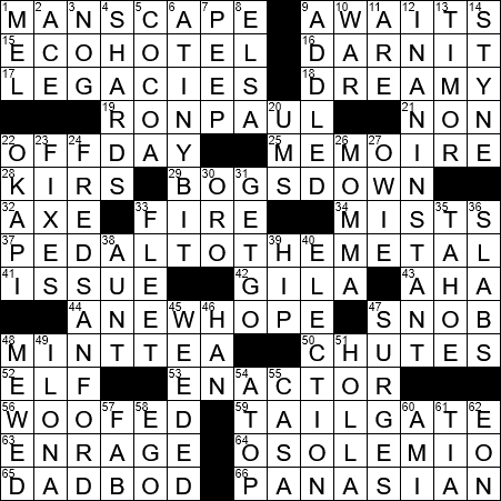 La Times Crossword 2 May 20 Saturday Laxcrossword Com