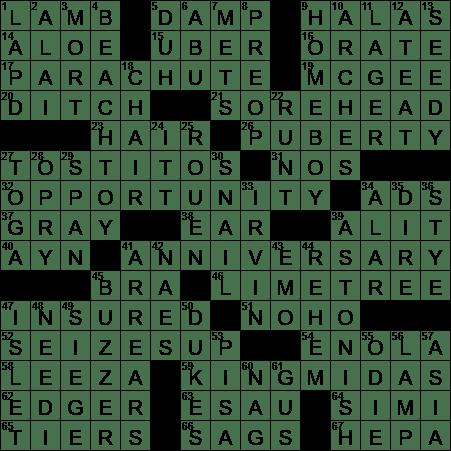 La Times Crossword 23 Apr 20 Thursday Laxcrossword Com