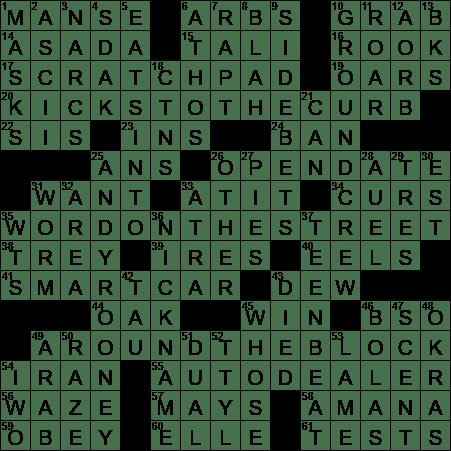 La Times Crossword 18 May 20 Monday Laxcrossword Com