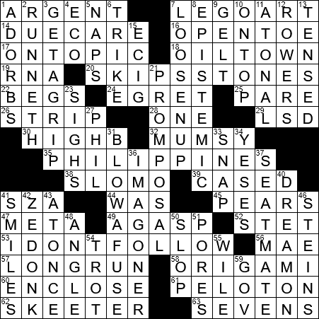 La Times Crossword 16 May 20 Saturday Laxcrossword Com