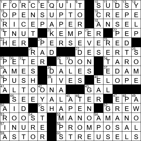 La Times Crossword 23 May 20 Saturday Laxcrossword Com