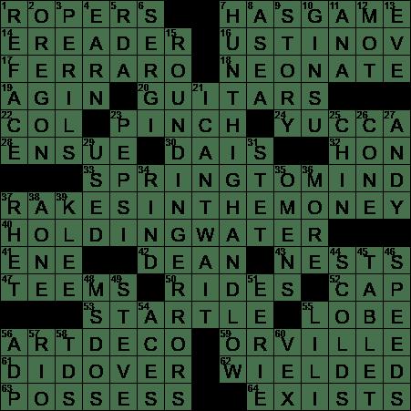 La Times Crossword 11 Aug 20 Tuesday Laxcrossword Com