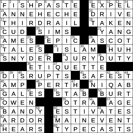 La Times Crossword 9 May 20 Saturday Laxcrossword Com