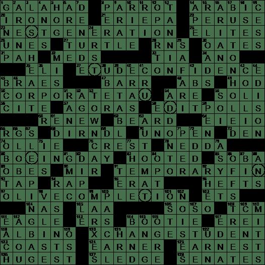 La Times Crossword 10 May 20 Sunday Laxcrossword Com