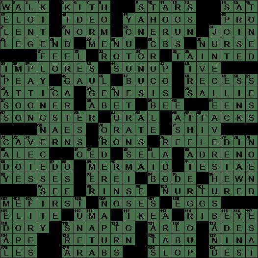 La Times Crossword 24 May 20 Sunday Laxcrossword Com