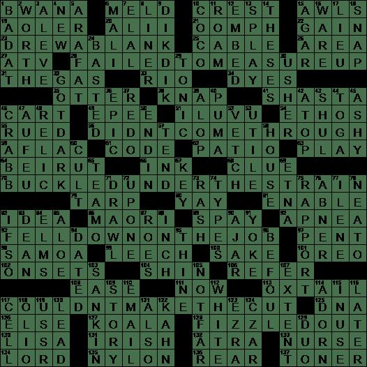 La Times Crossword 31 May 20 Sunday Laxcrossword Com