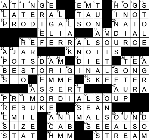 La Times Crossword 28 May 20 Thursday Laxcrossword Com