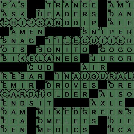 La Times Crossword 7 May 20 Thursday Laxcrossword Com