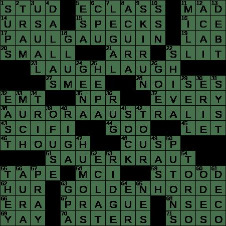 La Times Crossword 3 Jun 20 Wednesday Laxcrossword Com