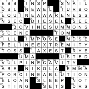 La Times Crossword 3 Jul 20 Friday Laxcrossword Com