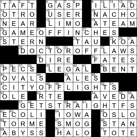 La Times Crossword 26 Jun 20 Friday Laxcrossword Com
