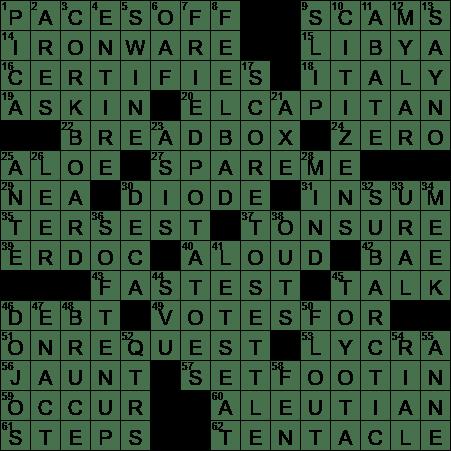 La Times Crossword 6 Jun 20 Saturday Laxcrossword Com