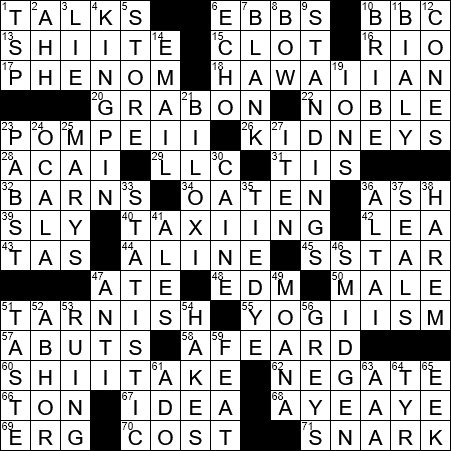 La Times Crossword 23 Jun 20 Tuesday Laxcrossword Com