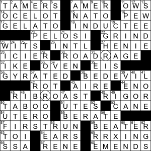 Standing Entree Crossword Clue Archives Laxcrossword Com