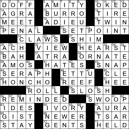La Times Crossword 10 Jun 20 Wednesday Laxcrossword Com
