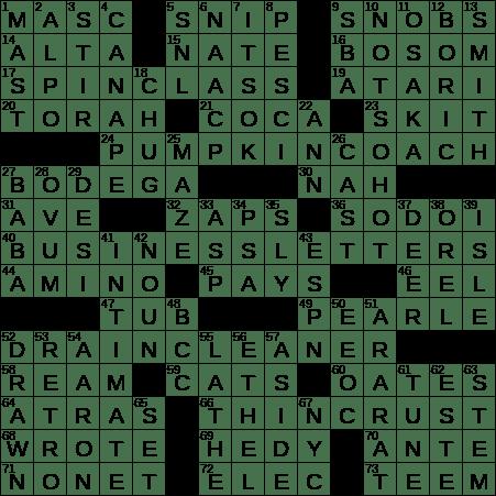 La Times Crossword 3 Aug 20 Monday Laxcrossword Com